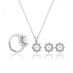 Bộ trang sức bạc Impressive Pearl