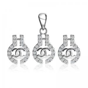 Bộ trang sức bạc Jelly Chanel