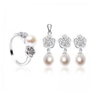 Bộ trang sức bạc Love Flower Pearls