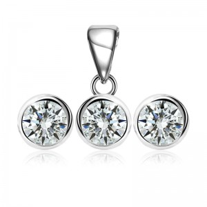Bộ trang sức bạc Lunhan Circle