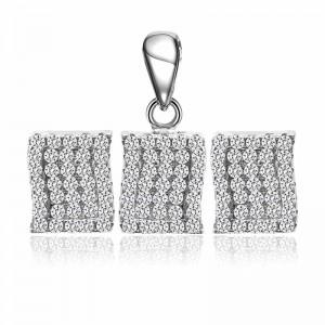 Bộ trang sức bạc Masson Square
