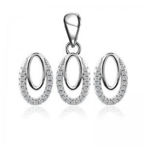 Bộ trang sức bạc Min Elip