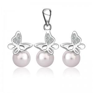 Bộ trang sức bạc Pearl Butterfly