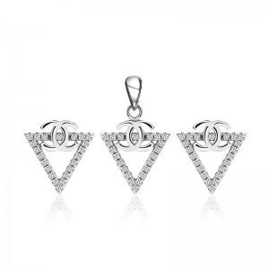 Bộ trang sức bạc Pediment