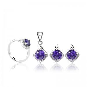 Bộ trang sức bạc Purple Love