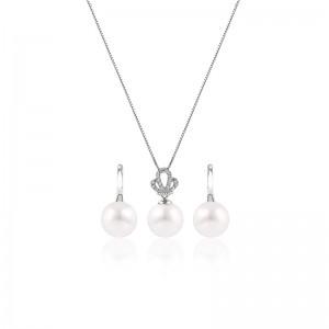 Bộ trang sức bạc Queen Pearl