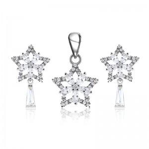 Bộ trang sức bạc Star And Flower