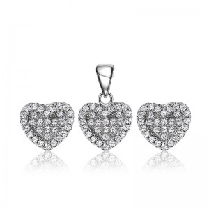 Bộ trang sức bạc Strong Heart
