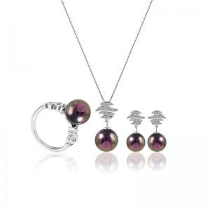 Bộ trang sức bạc Tiara Pearl