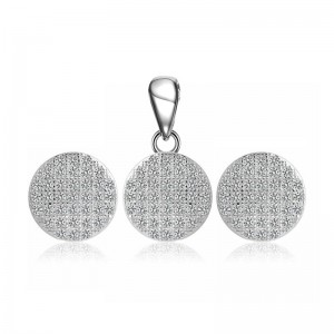 Bộ trang sức bạc Zica Circle