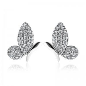 Bông tai bạc Alfa Butterfly