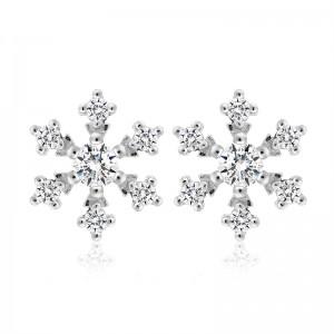 Bông tai bạc Amazing Snowflakes