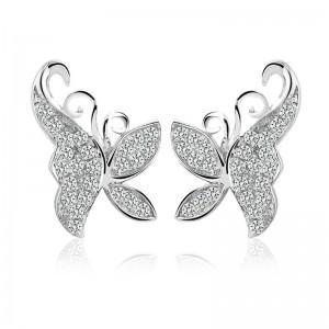 Bông tai bạc Butterfly