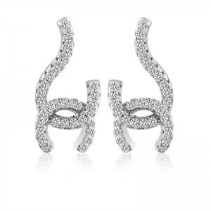 Bông tai bạc Chanel 2