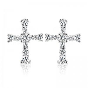 Bông tai bạc Hayi Cross