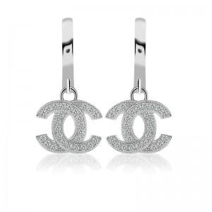 Bông tai bạc Loha Chanel