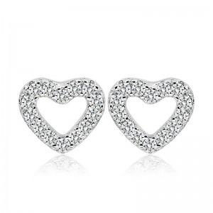 Bông tai bạc Minina Heart