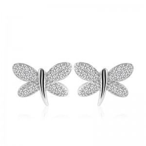 Bông tai bạc Morgan Butterfly