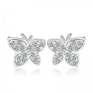 Bông tai bạc Pretty Butterfly