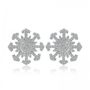 Bông tai bạc Snowflake