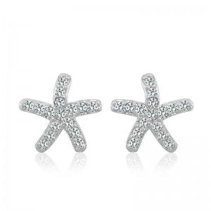 Bông tai bạc Starfish