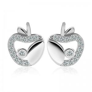 Bông tai bạc White Apple
