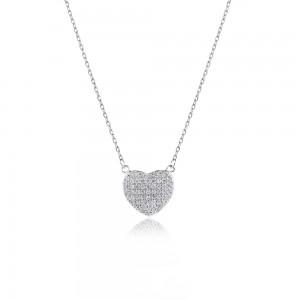 Dây chuyền bạc Sparkling Heart