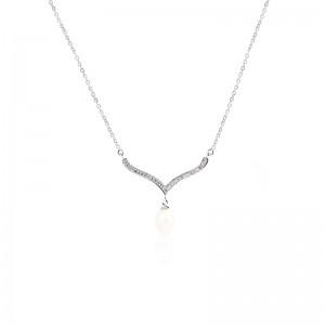 Dây chuyền bạc Vibrant Pearl
