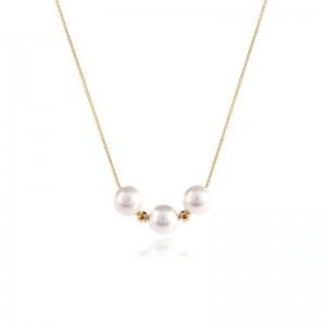 Dây chuyền bạc White Pearls