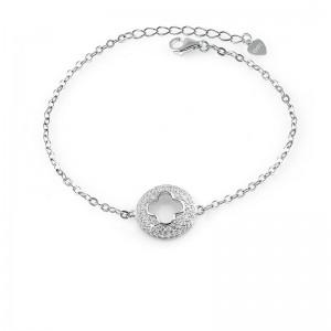 Lắc tay bạc Flower In Circle