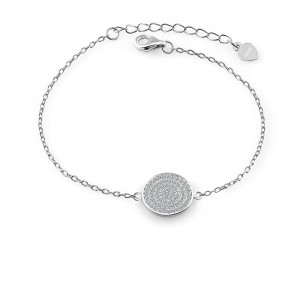 Lắc tay bạc Full Circle
