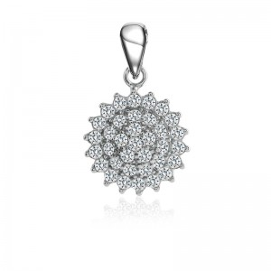 Mặt dây chuyền bạc Flower