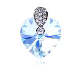 Mặt dây chuyền bạc Color Of Love ( màu trắng, màu xanh lá cây đậm )