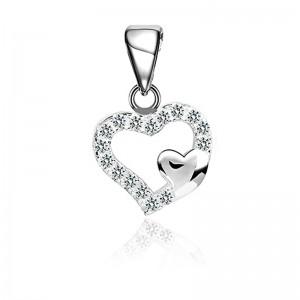 Mặt dây chuyền bạc Eddsel Heart