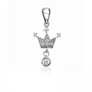 Mặt dây chuyền bạc Ela Crown