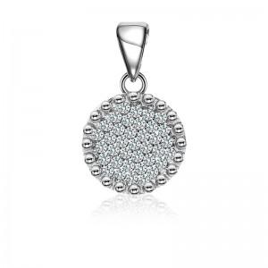 Mặt dây chuyền bạc Elyni Circle