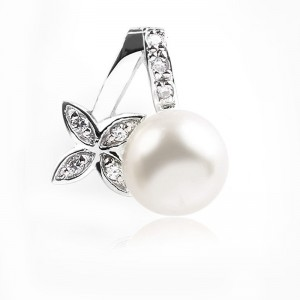 Mặt dây chuyền bạc Flower And Pearl