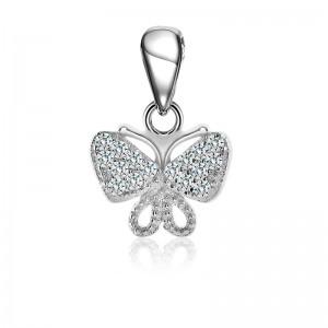Mặt dây chuyền bạc Gem Butterfly