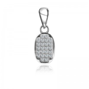Mặt dây chuyền bạc Luxury Elip