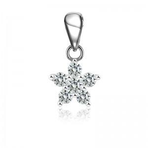 Mặt dây chuyền bạc Orchids Stars
