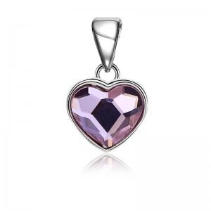 Mặt dây chuyền bạc Purple Heart