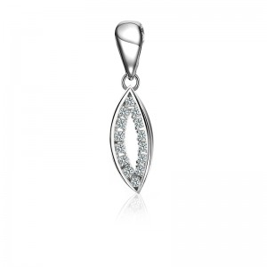 Mặt dây chuyền bạc Shine Leaf