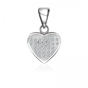 Mặt dây chuyền bạc Simple Heart