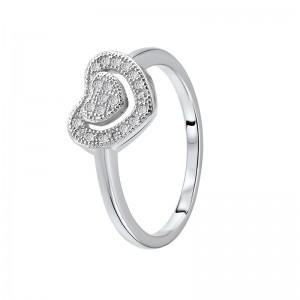 Nhẫn bạc Charles Heart
