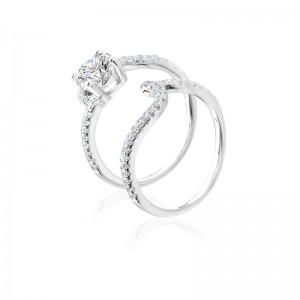 Nhẫn bạc Hyaline