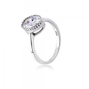 Nhẫn bạc Oval