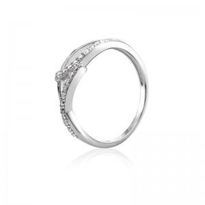 Nhẫn bạc Wave Love