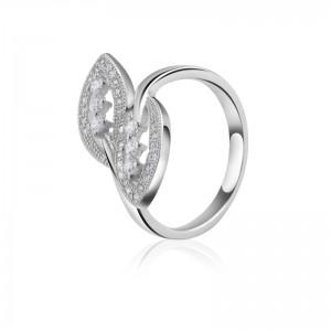 Nhẫn bạc White Leaf