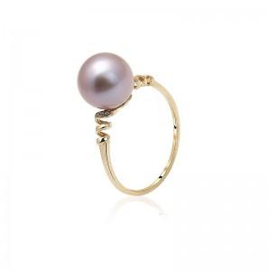 Nhẫn vàng 18k ngọc trai thật 8-9mm Diamond Pearl