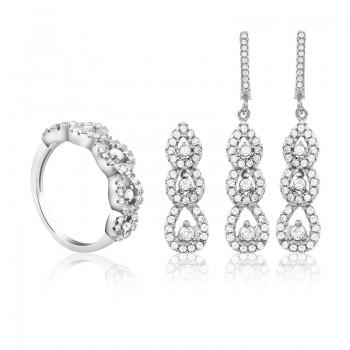 Bộ trang sức bạc Dewdrop